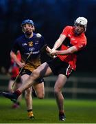 8 February 2020; Neil Montgomery of UCC in action against John Donnelly of DCU Dóchas Éireann during the Fitzgibbon Cup Semi-Final match between DCU Dóchas Éireann and UCC at Dublin City University Sportsgrounds. Photo by Sam Barnes/Sportsfile