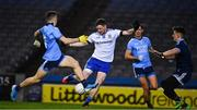 8 February 2020; Conor McManus of Monaghan shoots past Eoin Murchan, left, and Evan Comerford in the Dublin goal to score his side's first goal in the first minute of the Allianz Football League Division 1 Round 3 match between Dublin and Monaghan at Croke Park in Dublin. Photo by Ray McManus/Sportsfile