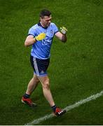 8 February 2020; Paddy Andrews of Dublin reacts to picking up an injury during the Allianz Football League Division 1 Round 3 match between Dublin and Monaghan at Croke Park in Dublin. Photo by Stephen McCarthy/Sportsfile
