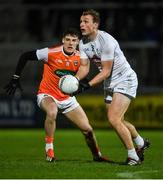 8 February 2020; Tommy Moolick of Kildare in action against Niall Grimley of Armagh during the Allianz Football League Division 2 Round 3 match between Armagh and Kildare at Athletic Grounds in Armagh. Photo by Piaras Ó Mídheach/Sportsfile