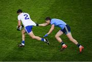 8 February 2020; Drew Wylie of Monaghan in action against Dean Rock of Dublin during the Allianz Football League Division 1 Round 3 match between Dublin and Monaghan at Croke Park in Dublin. Photo by Stephen McCarthy/Sportsfile