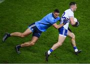 8 February 2020; Dessie Ward of Monaghan in action against James McCarthy of Dublin during the Allianz Football League Division 1 Round 3 match between Dublin and Monaghan at Croke Park in Dublin. Photo by Stephen McCarthy/Sportsfile