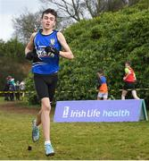 8 February 2020; Cian Gorham of Dromiskin AC, Louth, on his way to winning the boys under-15 Cross Country during the Irish Life Health National Intermediate, Master, Juvenile B & Relays Cross Country at Avondale in Rathdrum, Co Wicklow. Photo by Matt Browne/Sportsfile