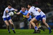 8 February 2020; Dan O'Brien of Dublin in action against Aaron Mulligan, Drew Wylie, 2, and Darren Hughes of Monaghan during the Allianz Football League Division 1 Round 3 match between Dublin and Monaghan at Croke Park in Dublin. Photo by Ray McManus/Sportsfile