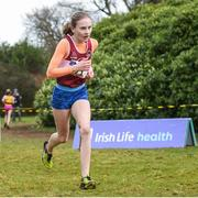 8 February 2020; Grace Byrne of Mullingar Harriers AC, Westmeath, who came third in the girls under-15 Cross Country during the Irish Life Health National Intermediate, Master, Juvenile B & Relays Cross Country at Avondale in Rathdrum, Co Wicklow. Photo by Matt Browne/Sportsfile