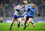 8 February 2020; Niall Kearns of Monaghan in action against John Small of Dublin during the Allianz Football League Division 1 Round 3 match between Dublin and Monaghan at Croke Park in Dublin. Photo by Seb Daly/Sportsfile