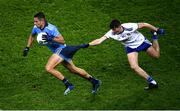 8 February 2020; Niall Scully of Dublin has his shorts pulled by Aaron Mulligan of Monaghan during the Allianz Football League Division 1 Round 3 match between Dublin and Monaghan at Croke Park in Dublin. Photo by Stephen McCarthy/Sportsfile