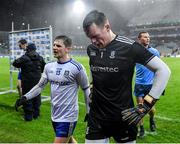8 February 2020; Rory Beggan, right, and Dermot Malone of Monaghan leave the field following the Allianz Football League Division 1 Round 3 match between Dublin and Monaghan at Croke Park in Dublin. Photo by Seb Daly/Sportsfile