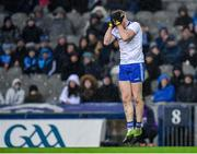 8 February 2020; Philip Donnelly of Monaghan reacts after kicking wide during the Allianz Football League Division 1 Round 3 match between Dublin and Monaghan at Croke Park in Dublin. Photo by Seb Daly/Sportsfile