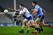 8 February 2020; Karl O'Connell of Monaghan in action against David Byrne and Dean Rock of Dublin during the Allianz Football League Division 1 Round 3 match between Dublin and Monaghan at Croke Park in Dublin. Photo by Ray McManus/Sportsfile