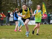 8 February 2020; Anna Lucey-O'Sullivan of North Cork AC in action during the under-12 girls relay at the Irish Life Health National Intermediate, Master, Juvenile B & Relays Cross Country at Avondale in Rathdrum, Co Wicklow.  Photo by Matt Browne/Sportsfile
