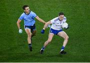 8 February 2020; Niall Kearns of Monaghan and Michael Fitzsimons of Dublin during the Allianz Football League Division 1 Round 3 match between Dublin and Monaghan at Croke Park in Dublin. Photo by Stephen McCarthy/Sportsfile