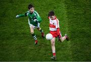 8 February 2020; Action between Erin Go Bragh and Whitehall Colmcille in the Cumann na mBunscol game at half time of the Allianz Football League Division 1 Round 3 match between Dublin and Monaghan at Croke Park in Dublin. Photo by Stephen McCarthy/Sportsfile