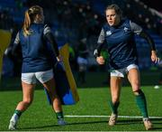 9 February 2020; Beibhinn Parsons, right, and Eimear Considine of Ireland warm-up prior to the Women's Six Nations Rugby Championship match between Ireland and Wales at Energia Park in Dublin. Photo by Ramsey Cardy/Sportsfile