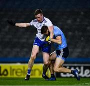 8 February 2020; Kieran Duffy of Monaghan and Paul Mannion of Dublin jostle before the start to the second half during the Allianz Football League Division 1 Round 3 match between Dublin and Monaghan at Croke Park in Dublin. Photo by Ray McManus/Sportsfile