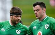 8 February 2020; Iain Henderson, left, and James Ryan of Ireland during the Guinness Six Nations Rugby Championship match between Ireland and Wales at the Aviva Stadium in Dublin. Photo by Ramsey Cardy/Sportsfile