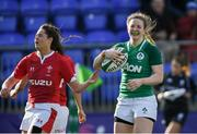 9 February 2020; Lauren Delany of Ireland celebrates after scoring her side's third try during the Women's Six Nations Rugby Championship match between Ireland and Wales at Energia Park in Dublin. Photo by Ramsey Cardy/Sportsfile