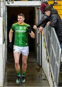 9 February 2020; Bryan Menton of Meath leads out his team prior to the Allianz Football League Division 1 Round 3 match between Meath and Mayo at Páirc Tailteann in Navan, Meath. Photo by Seb Daly/Sportsfile