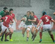 9 February 2020; Eimear Considine of Ireland takes on the Wales defence during the Women's Six Nations Rugby Championship match between Ireland and Wales at Energia Park in Dublin. Photo by Ramsey Cardy/Sportsfile