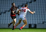 9 February 2020; Kevin McKernan of Down in action against Ciarán Sheehan of Cork during the Allianz Football League Division 3 Round 3 match between Cork and Down at Páirc Uí Chaoimh in Cork. Photo by Piaras Ó Mídheach/Sportsfile