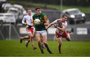 9 February 2020; David Clifford of Kerry in action against Kieran McGeary of Tyrone during the Allianz Football League Division 1 Round 3 match between Tyrone and Kerry at Edendork GAC in Dungannon, Co Tyrone. Photo by David Fitzgerald/Sportsfile