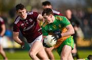 9 February 2020; Jamie Brennan of Donegal in action against Johnny Heaney of Galway during the Allianz Football League Division 1 Round 3 match between Donegal and Galway at O'Donnell Park in Letterkenny, Donegal. Photo by Oliver McVeigh/Sportsfile