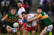 9 February 2020; Kieran McGeary of Tyrone in action against Paul Geaney, right, and Killian Spillane of Kerry during the Allianz Football League Division 1 Round 3 match between Tyrone and Kerry at Edendork GAC in Dungannon, Co Tyrone. Photo by David Fitzgerald/Sportsfile