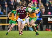 9 February 2020; Caolan McGonagle of Donegal in action against John Daly of Galway during the Allianz Football League Division 1 Round 3 match between Donegal and Galway at O'Donnell Park in Letterkenny, Donegal. Photo by Oliver McVeigh/Sportsfile