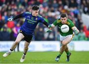 9 February 2020; Donal Keogan of Meath in action against James Durcan of Mayo during the Allianz Football League Division 1 Round 3 match between Meath and Mayo at Páirc Tailteann in Navan, Meath. Photo by Seb Daly/Sportsfile