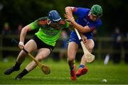 8 February 2020; Rory Higgins of IT Carlow in action against David Prendergast of Mary Immaculate College Limerick during the Fitzgibbon Cup Semi-Final match between Mary Immaculate College Limerick and IT Carlow at Dublin City University Sportsgrounds. Photo by Sam Barnes/Sportsfile