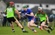 8 February 2020; Colin O'Brien of Mary Immaculate College Limerick in action against Mark Slevin, left, and Luke Scanlon of IT Carlow during the Fitzgibbon Cup Semi-Final match between Mary Immaculate College Limerick and IT Carlow at Dublin City University Sportsgrounds. Photo by Sam Barnes/Sportsfile