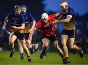 8 February 2020; Neil Montgomery of UCC in action against Paddy Smyth of DCU Dóchas Éireann during the Fitzgibbon Cup Semi-Final match between DCU Dóchas Éireann and UCC at Dublin City University Sportsgrounds. Photo by Sam Barnes/Sportsfile