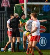 9 February 2020; Referee Fergal Kelly shows David Clifford of Kerry a red card after a second yellow during the Allianz Football League Division 1 Round 3 match between Tyrone and Kerry at Edendork GAC in Dungannon, Co Tyrone. Photo by David Fitzgerald/Sportsfile