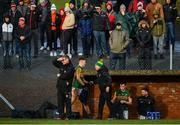 9 February 2020; David Clifford of Kerry shakes hands with manager Peter Keane after being sent off during the Allianz Football League Division 1 Round 3 match between Tyrone and Kerry at Edendork GAC in Dungannon, Co Tyrone. Photo by David Fitzgerald/Sportsfile