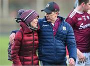 9 February 2020; Galway manager Padraic Joyce and his wife Tracey leave the field after the Allianz Football League Division 1 Round 3 match between Donegal and Galway at O'Donnell Park in Letterkenny, Donegal. Photo by Oliver McVeigh/Sportsfile