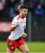9 February 2020; Darren McCurry of Tyrone celebrates after kicking the point to put his side ahead during the Allianz Football League Division 1 Round 3 match between Tyrone and Kerry at Edendork GAC in Dungannon, Co Tyrone. Photo by David Fitzgerald/Sportsfile