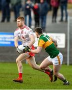 9 February 2020; Cathal McShane of Tyrone in action against Tom O'Sullivan of Kerry during the Allianz Football League Division 1 Round 3 match between Tyrone and Kerry at Edendork GAC in Dungannon, Co Tyrone. Photo by David Fitzgerald/Sportsfile
