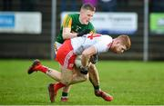 9 February 2020; Cathal McShane of Tyrone in action against Jason Foley of Kerry during the Allianz Football League Division 1 Round 3 match between Tyrone and Kerry at Edendork GAC in Dungannon, Co Tyrone. Photo by David Fitzgerald/Sportsfile