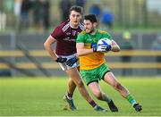 9 February 2020; Ryan McHugh of Donegal in action against Robert Finnerty of Galway during the Allianz Football League Division 1 Round 3 match between Donegal and Galway at O'Donnell Park in Letterkenny, Donegal. Photo by Oliver McVeigh/Sportsfile