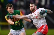 9 February 2020; Ronan McNamee of Tyrone in action against Seán O'Shea of Kerry during the Allianz Football League Division 1 Round 3 match between Tyrone and Kerry at Edendork GAC in Dungannon, Co Tyrone. Photo by David Fitzgerald/Sportsfile