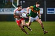 9 February 2020; Tiernan McCann of Tyrone in action against Seán O'Shea of Kerry during the Allianz Football League Division 1 Round 3 match between Tyrone and Kerry at Edendork GAC in Dungannon, Co Tyrone. Photo by David Fitzgerald/Sportsfile