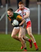 9 February 2020; Jason Foley of Kerry in action against Cathal McShane of Tyrone during the Allianz Football League Division 1 Round 3 match between Tyrone and Kerry at Edendork GAC in Dungannon, Co Tyrone. Photo by David Fitzgerald/Sportsfile