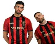 5 February 2020; Dan Mandroiu, left, and Keith Ward during Bohemians squad portraits at IT Blanchardstown in Dublin. Photo by David Fitzgerald/Sportsfile