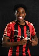 5 February 2020; Promise Omochere during Bohemians squad portraits at IT Blanchardstown in Dublin. Photo by David Fitzgerald/Sportsfile