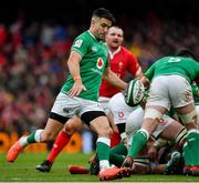 8 February 2020; Conor Murray of Ireland during the Guinness Six Nations Rugby Championship match between Ireland and Wales at Aviva Stadium in Dublin. Photo by Brendan Moran/Sportsfile