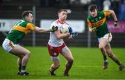 9 February 2020; Liam Rafferty of Tyrone in action against Tom O'Sullivan of Kerry during the Allianz Football League Division 1 Round 3 match between Tyrone and Kerry at Edendork GAC in Dungannon, Co Tyrone. Photo by David Fitzgerald/Sportsfile