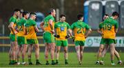 9 February 2020; A group of disappointed Donegal players after the Allianz Football League Division 1 Round 3 match between Donegal and Galway at O'Donnell Park in Letterkenny, Donegal. Photo by Oliver McVeigh/Sportsfile
