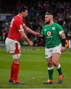 8 February 2020; Adam Beard of Wales and Andrew Porter of Ireland shake hands after the Guinness Six Nations Rugby Championship match between Ireland and Wales at Aviva Stadium in Dublin. Photo by Brendan Moran/Sportsfile