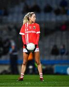 8 February 2020; Orla Finn of Cork prepares to take a free kick during the Lidl Ladies National Football League Division 1 Round 3 match between Dublin and Cork at Croke Park in Dublin. Photo by Ray McManus/Sportsfile