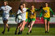 9 February 2020; Ailbhe Davoren of Galway in action against Deirdre Foley of Donegal during the 2020 Lidl Ladies National Football League Division 1 Round 3 match between Donegal and Galway at O'Donnell Park in Letterkenny, Donegal. Photo by Oliver McVeigh/Sportsfile